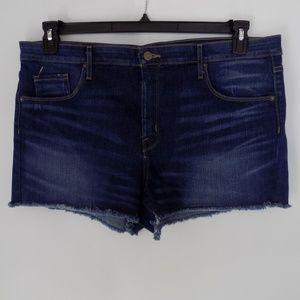 Mossimo Size 18 Denim Shorts HI-Rise Cutoff NWOT